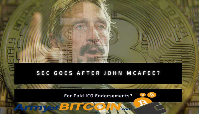 SEC Goes After John McAfee For Paid ICO Endorsements