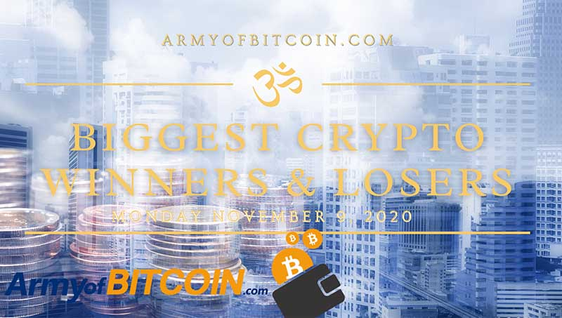 What Are The Biggest Crypto Winners & Losers For Monday, November 9, 2020
