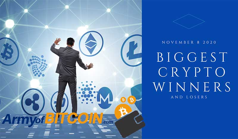What Are The Biggest Crypto Winners & Losers For Sunday, November 8, 2020